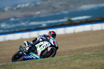 Camier quickest on bruising second day of WSBK testing