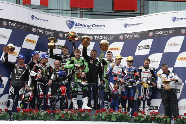 SRC Kawasaki stand atop the Bol d'Or podium at the WEC opener.