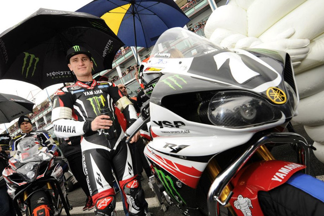 Broc Parkes on the grid ahead of his first Bol d'Or start with the Monster Energy Yamaha Austria Team.