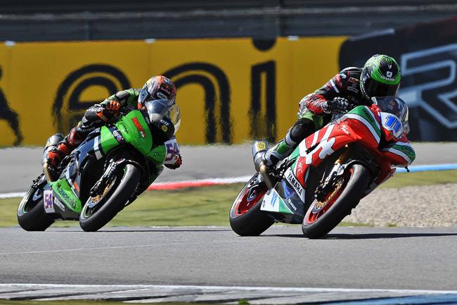Yamaha's Sam Lowes en route to the Assen World Supersport win. Image: WorldSBK.com.
