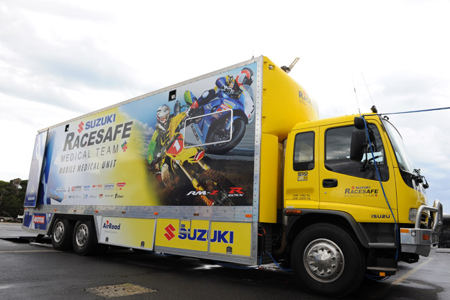 The Racesafe truck is the largest and most advanced of its kind in the Southern Hemisphere.