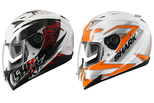 Shark releases Finks and Creed graphics for S900C helmet