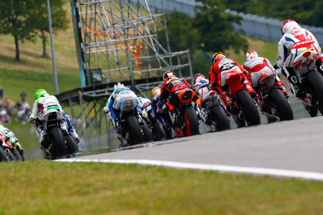 The Moto2 race was a typical closely-contested affair. Image: MotoGP.com