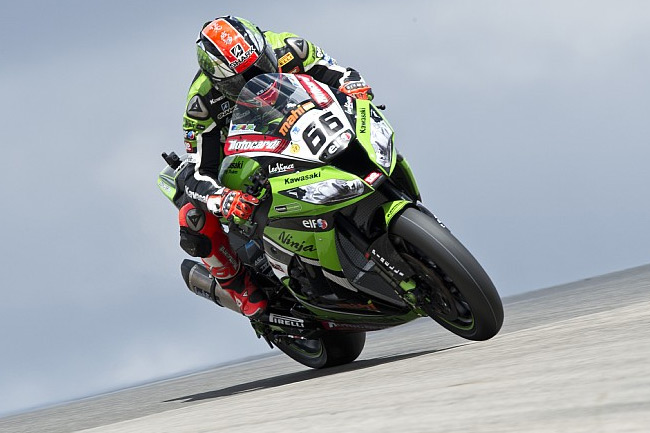 Kawasaki's Tom Sykes is aiming to zero in on the World Superbike Championship lead at Imola. Image: Kawasaki Racing Team.