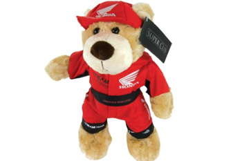 Honda's collectable Super Cup bear was designed to celebrate 50 years of racing.