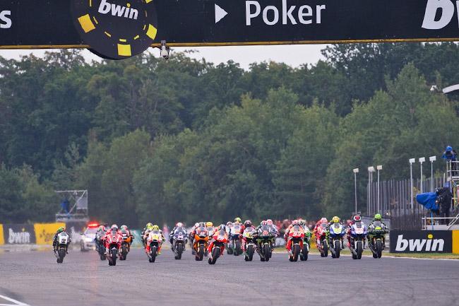 The MotoGP field gets underway in Brno. Image: MotoGP.com.