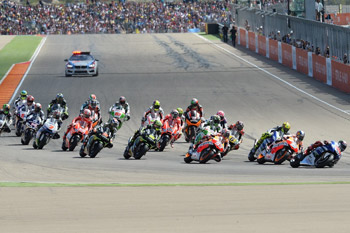 Marquez beats Lorenzo to Aragon victory as Pedrosa crashes out