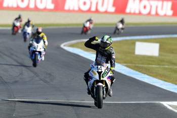 Allerton, Condon and Wagner on top during Friday MotoGP supports