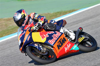 Miller stars on debut with Red Bull KTM in Jerez Moto3 test