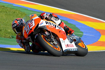 Honda's Marquez secures Valencia pole in record pace
