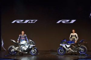 Two 2015 Yamaha YZF-R1 models debut at EICMA