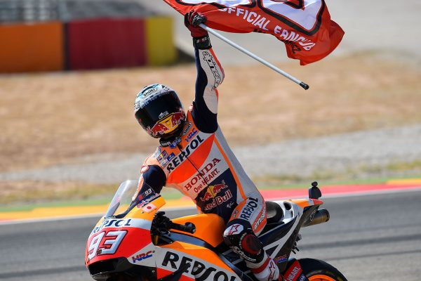 Aragon victory matches Marquez with Doohan on 54 wins