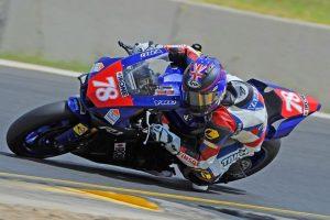 Podium for Michael Blair in Swann Insurance Australasian Superbike Championships