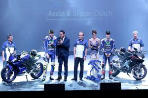 New Yamaha R15 V3.0 unveiled by factory MotoGP duo