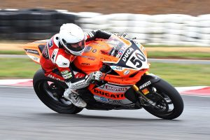 Spriggs in the ASBK points at Wakefield Park