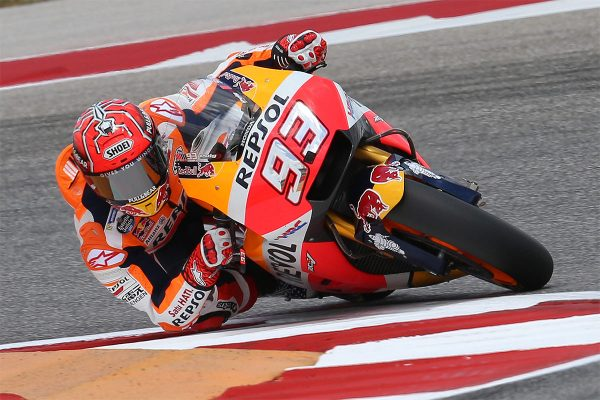 Marquez sets MotoGP pace on Friday in Texas