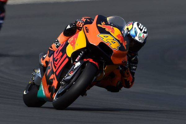 MotoGP newcomers KTM star during qualifying in France