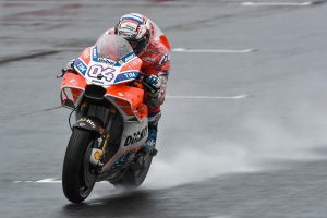 Dovizioso tops rain-soaked Japanese MotoGP practice