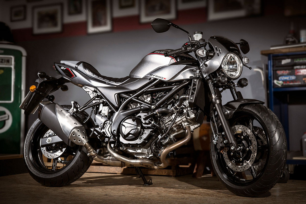 suzuki to release cafe racer inspired sv650x for 2018. Black Bedroom Furniture Sets. Home Design Ideas