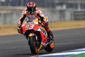 Marquez fastest on day two, Miller third at Buriram