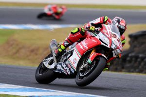 Aprilia's Savadori sets pace in WorldSBK practice two