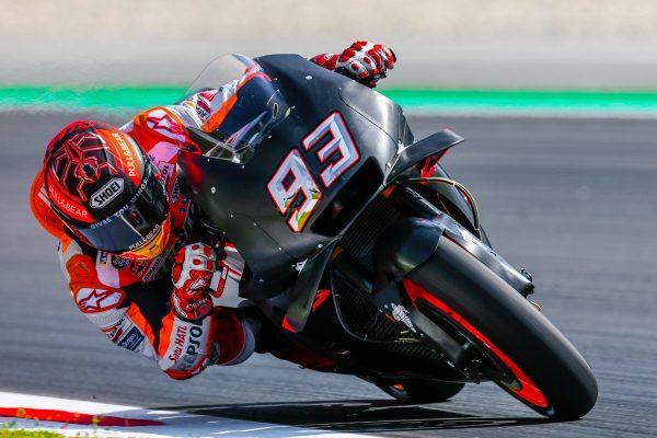 Marquez lodges fastest time in Catalunya MotoGP testing