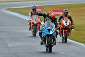 Allerton edges Bayliss in wet Superbike race two thriller