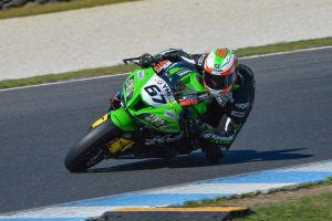Race podium for Kawasaki BCperformance's Staring at Phillip Island ASBK final round