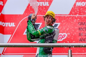 Gardner charged with emotion after career-first Moto2 podium