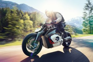 BMW uncovers electric-powered Vision DC Roadster concept bike