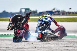 Dovizioso hospitalised in fiery Quartararo clash at Silverstone