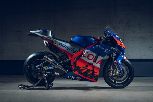 Organics by Red Bull branding uncovered by KTM Tech3