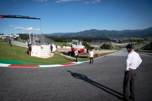 Wall extended on the inside of turn three at Red Bull Ring